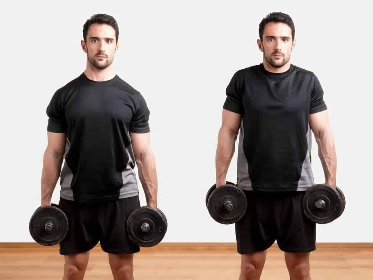 Person doing a shrug exercise.