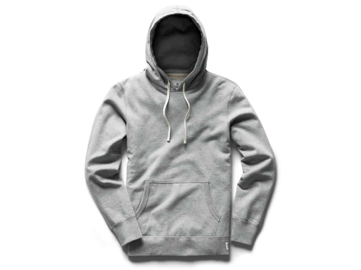 Reigning Champ grey hoodie.