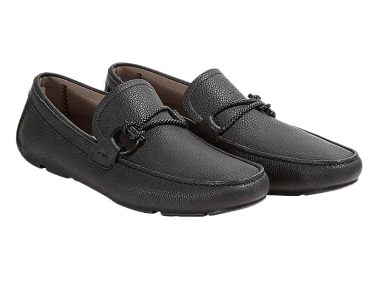 Pair of Salvatore Ferragamo leather driving shoes.