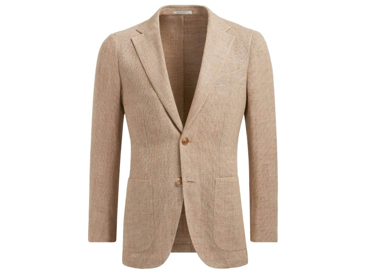 Brown Suitsupply unstructured blazer.