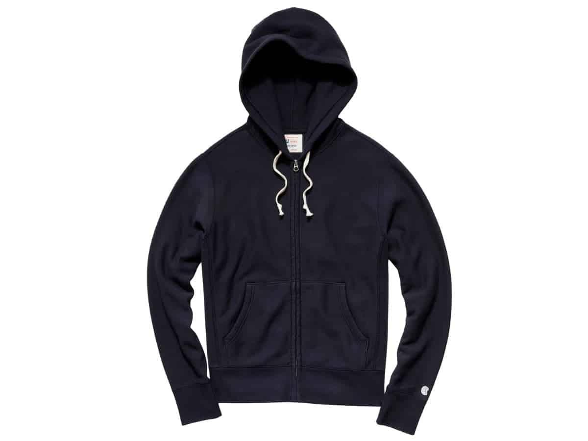 Todd Snyder full-zip hoodie.